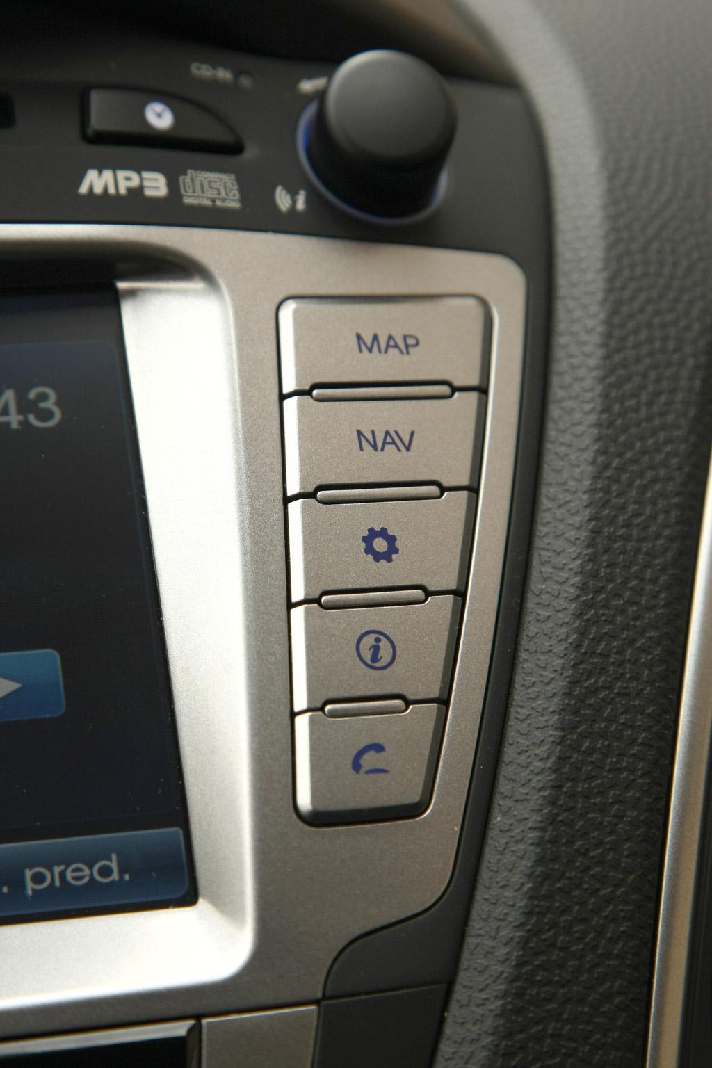 Hyundai Ix35 Hyundai ix35. Detalle de los mandos del navegador.